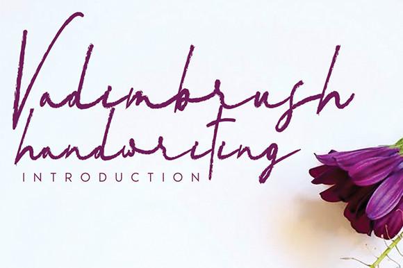 Vadimbrush Handwriting Font