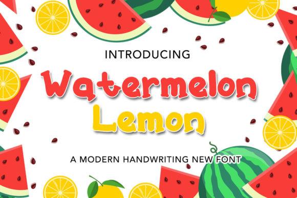 Watermelon Lemon Font