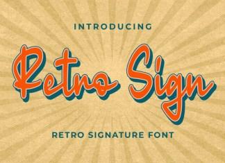 Retro Sign Font