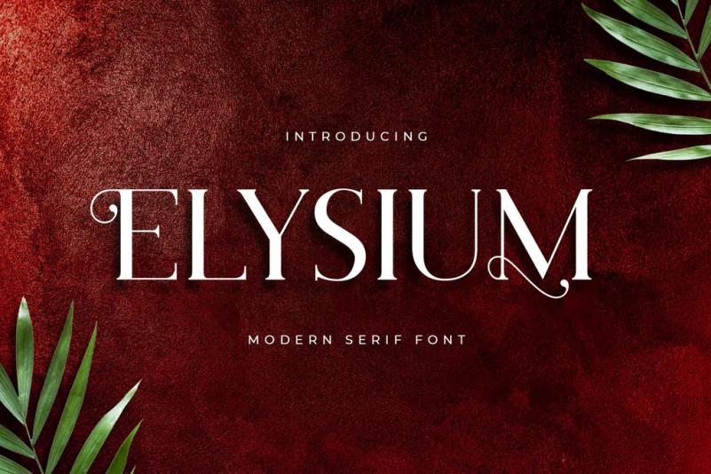 Elysium Font Ifonts Xyz