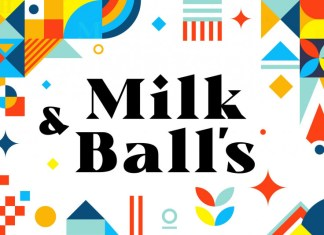 Milk and Balls Font