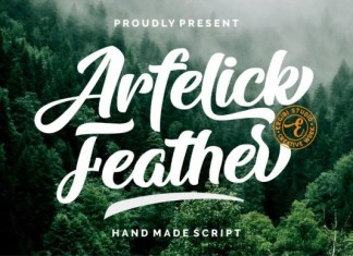 Arfelick Feather Font