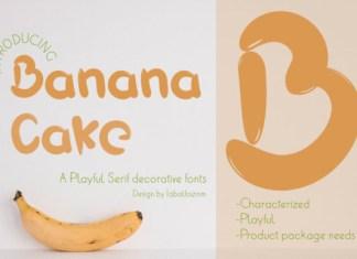 Banana Cake Font