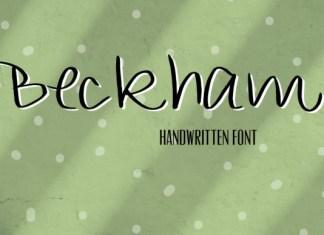 Beckham Font