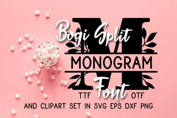 Bogi Split Monogram Font