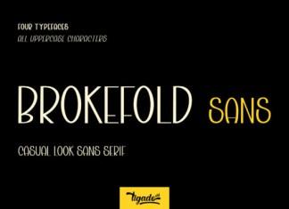 Brokefold Font
