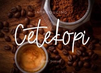 Cetekopi Font