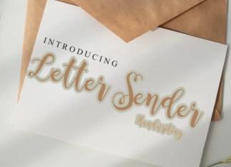 Letter Sender Font