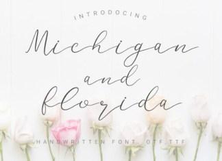 Michigan and Florida Font