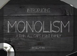 Monolism Font