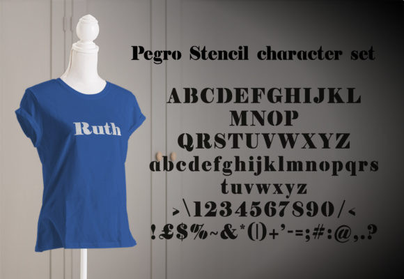 Pegro Stencil Font