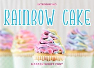 Rainbow Cake Font