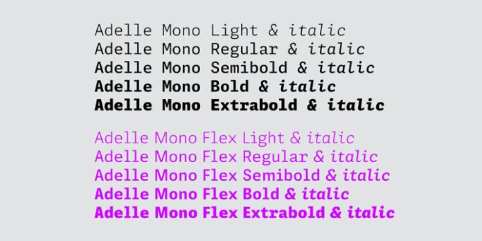 Adelle Mono Font