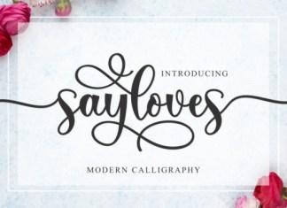 Sayloves Font