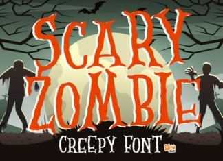 Scary Zombie Font
