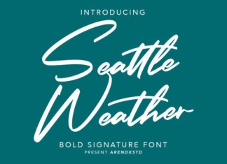 Seattle Weather Font