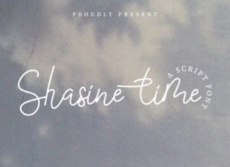 Shasine Time Font
