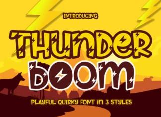 Thunder Boom Font