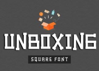 Unboxing Font