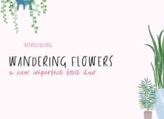 Wandering Flowers Font