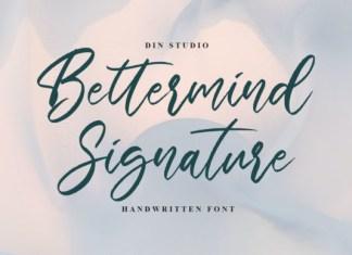 Bettermind Signature Font