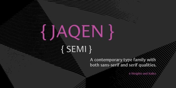 Jaqen Semi Font