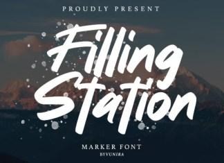Filling station Font