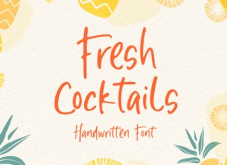 Fresh Cocktails Font