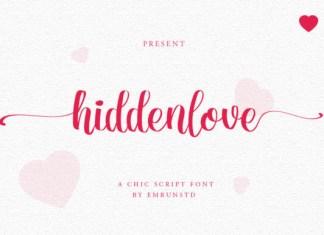 Hidden Love Font