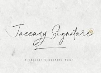 Jaccuzy Signature Font