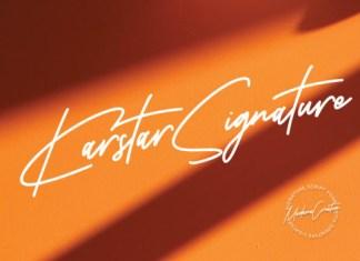 Karstar Signature Font