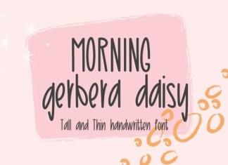 Morning Gerbera Daisy Font
