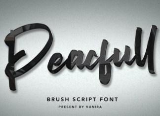 Peacfull Font