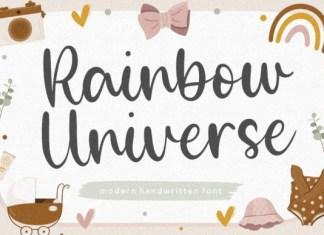 Rainbow Universe Font