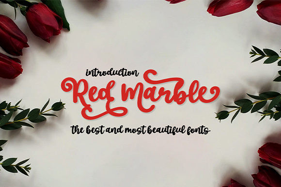 Red Marble Font