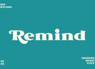 Remind Font
