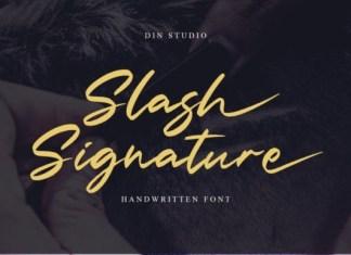 Slash Signature Font