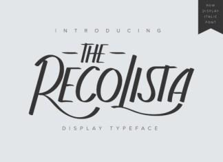 The Recolista  Font