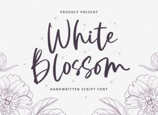 White Blossom Font
