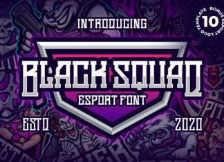 Black Squad Font