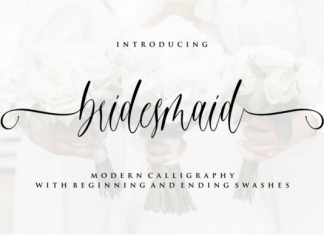 Bridesmaid Font