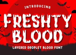 Freshty Blood Font