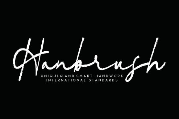 Hanbrush Font