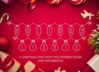 Holiday Lights Font
