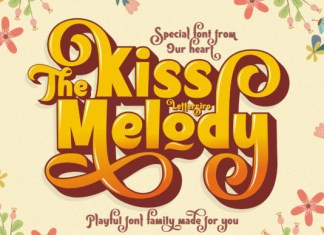 The Kiss Melody Font