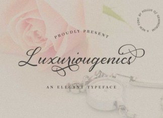 Luxuriougenics Font
