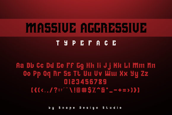 Massive Aggressive Font