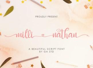 Milli Nathan Font