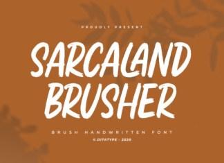 Sarcaland Brusher Font