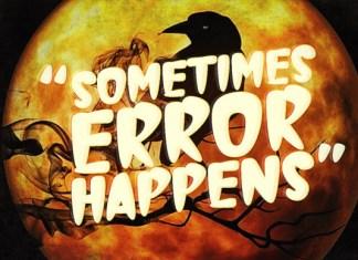 Sometimes Error Happens Font